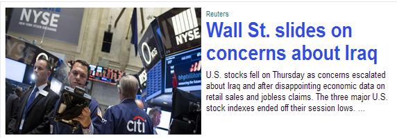 Yahoo stock article